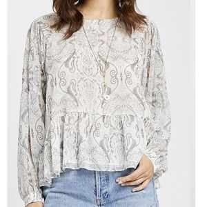 Gentle Fawn Felicity Top in White Paisley